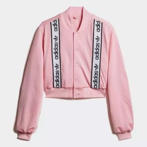New Adidas pink bomber jacket